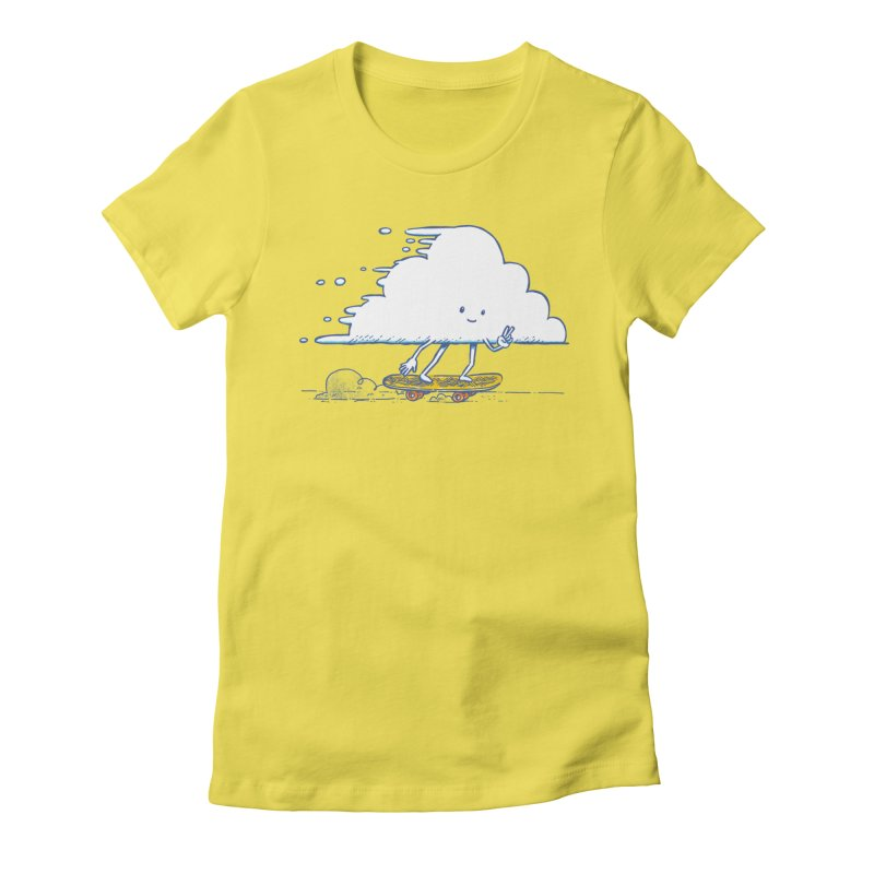 The Cloud Skater Women's Fitted T-Shirt by nickv47
