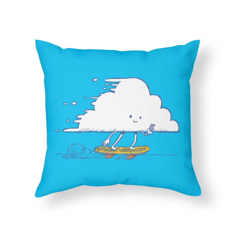 The Cloud Skater Home Throw Pillow by nickv47