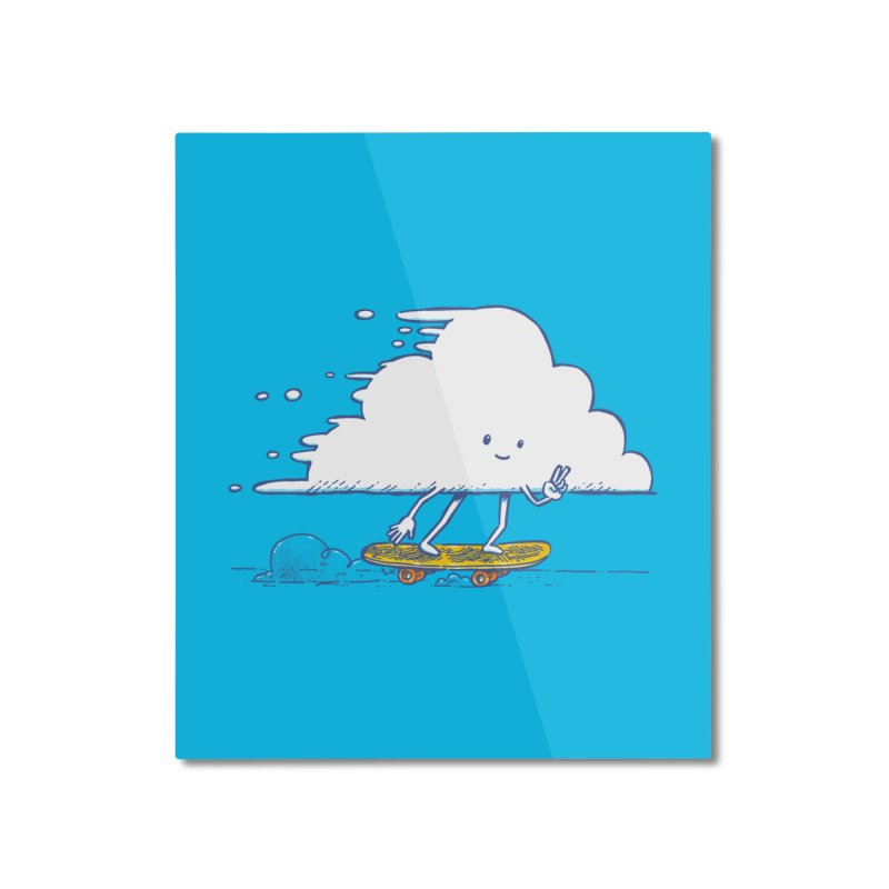 The Cloud Skater Home Mounted Aluminum Print by nickv47