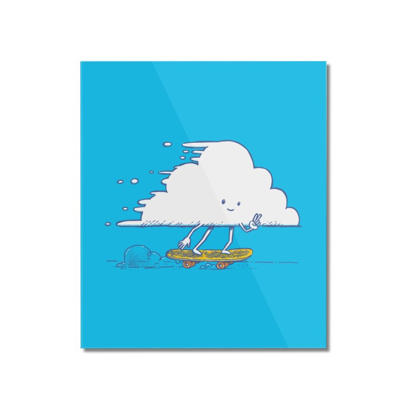 The Cloud Skater Home Mounted Acrylic Print by nickv47