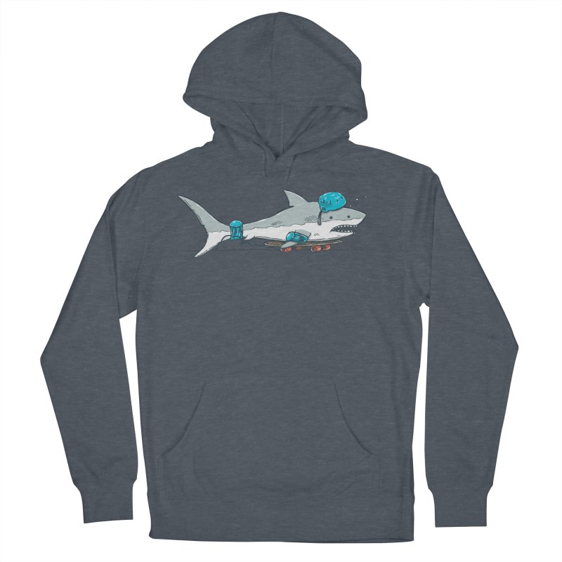 The Shark Skater Women's French Terry Pullover Hoody by nickv47