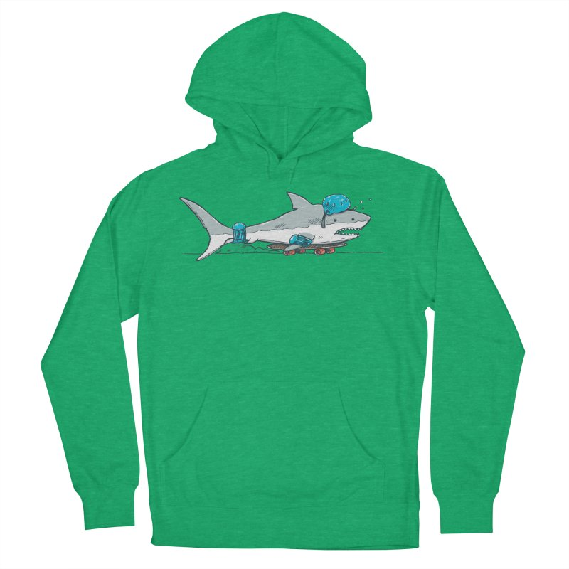 The Shark Skater Men's French Terry Pullover Hoody by nickv47