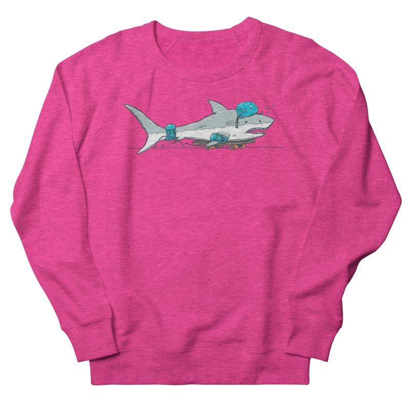 The Shark Skater Women's French Terry Sweatshirt by nickv47