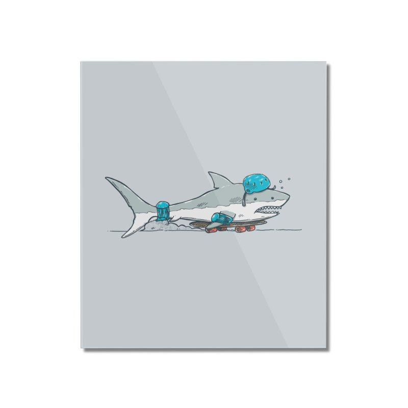 The Shark Skater Home Mounted Acrylic Print by nickv47