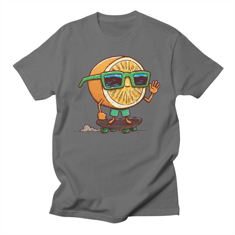 The Orange Skater Men's T-Shirt by nickv47