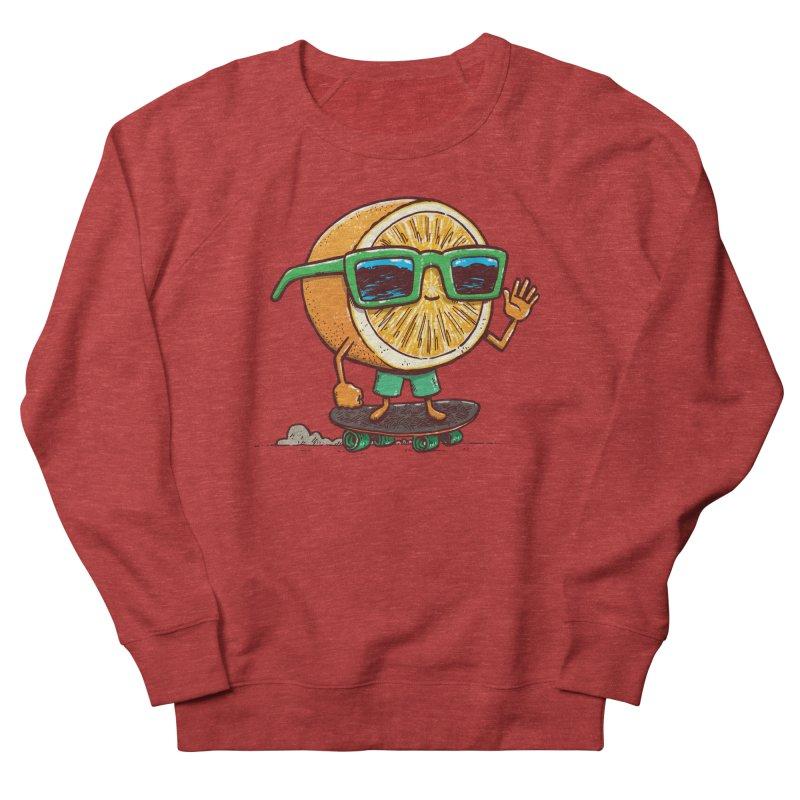 The Orange Skater Women's French Terry Sweatshirt by nickv47