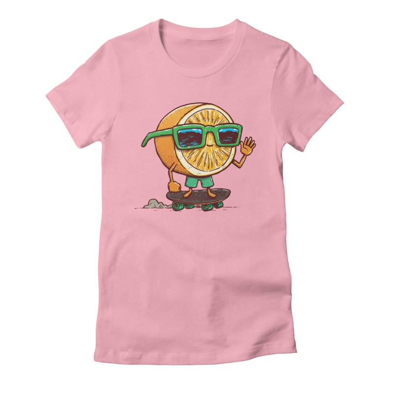 The Orange Skater Women's Fitted T-Shirt by nickv47