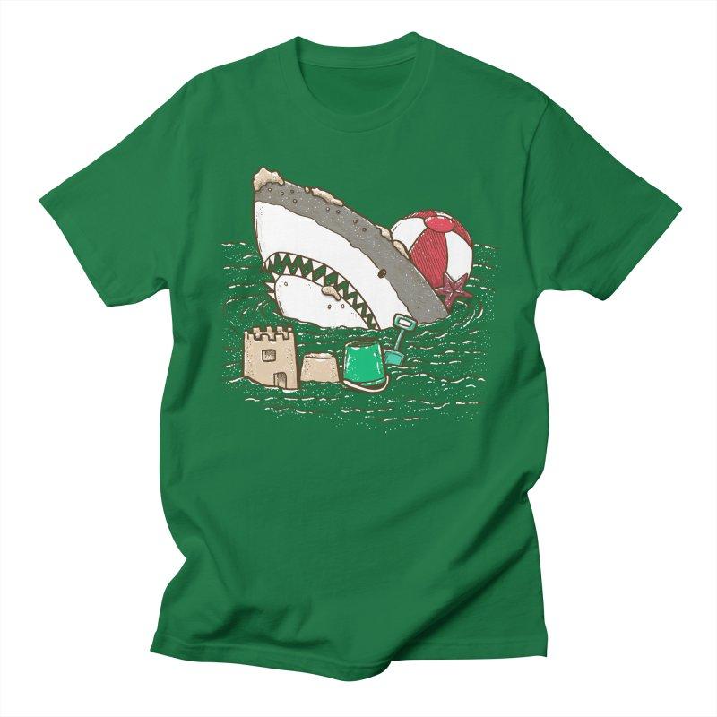 Sandy Beach Shark Men's T-Shirt by nickv47