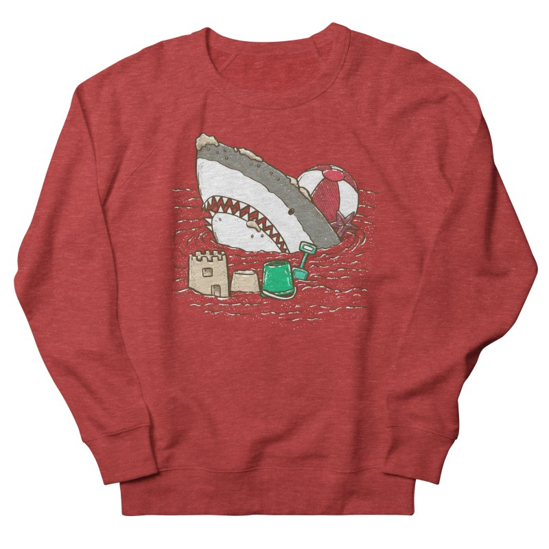 Sandy Beach Shark Women's French Terry Sweatshirt by nickv47