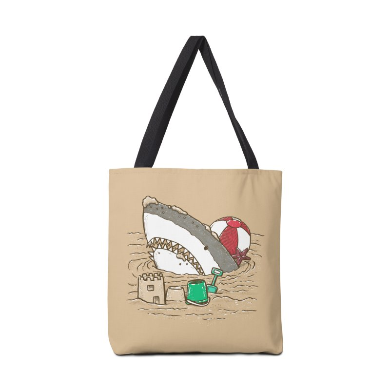 Sandy Beach Shark Accessories Tote Bag Bag by nickv47