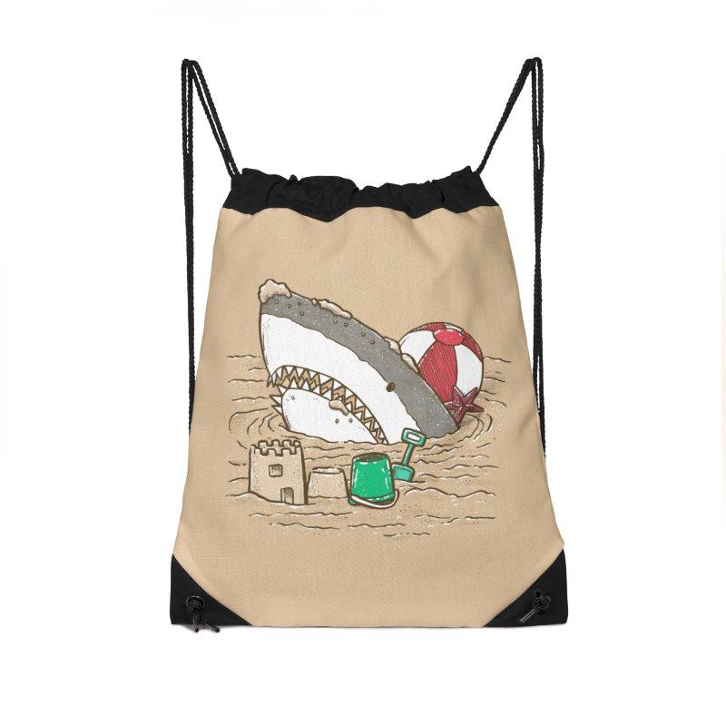 Sandy Beach Shark Accessories Bag by nickv47