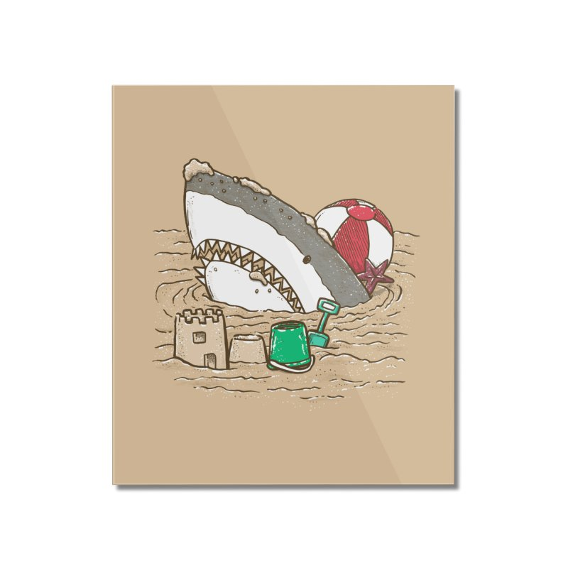 Sandy Beach Shark Home Mounted Acrylic Print by nickv47