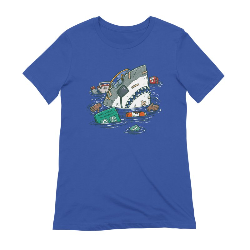 Safety Third Shark Women's Extra Soft T-Shirt by nickv47