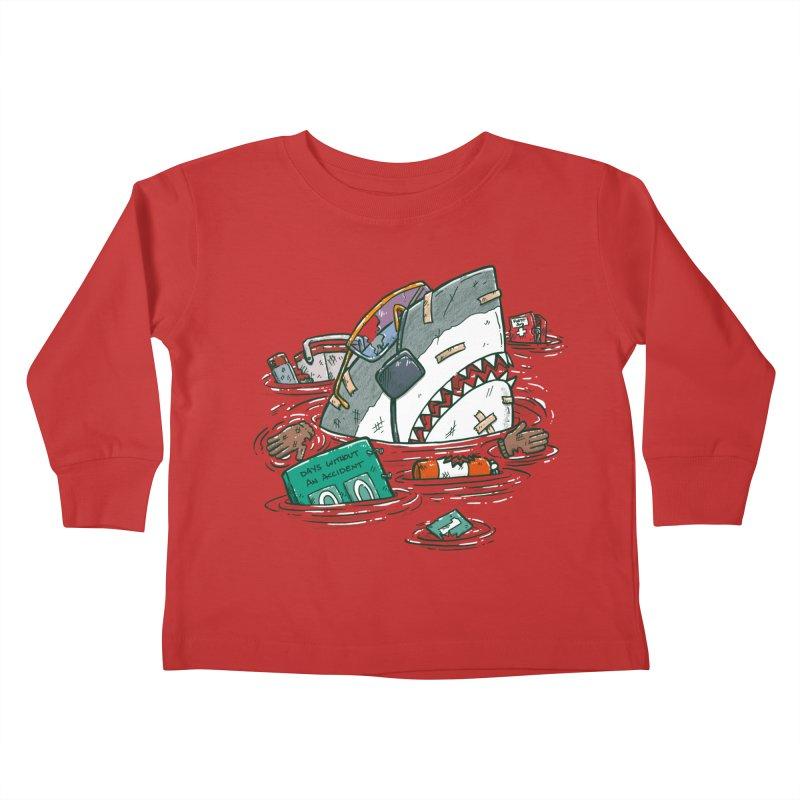 Safety Third Shark Kids Toddler Longsleeve T-Shirt by nickv47