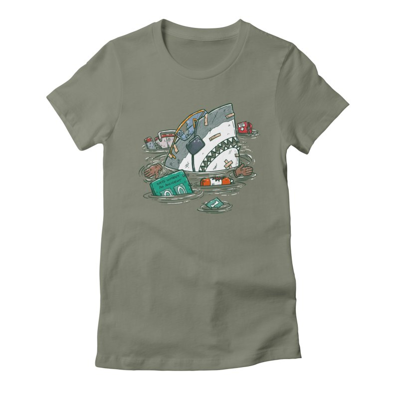 Safety Third Shark Women's Fitted T-Shirt by nickv47