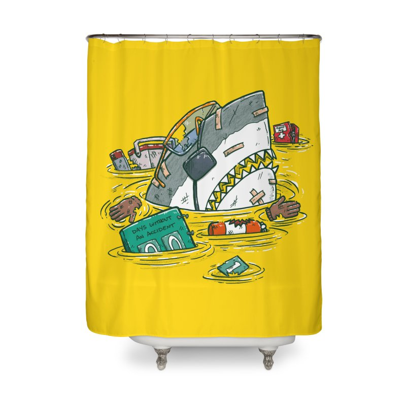 Safety Third Shark Home Shower Curtain by nickv47