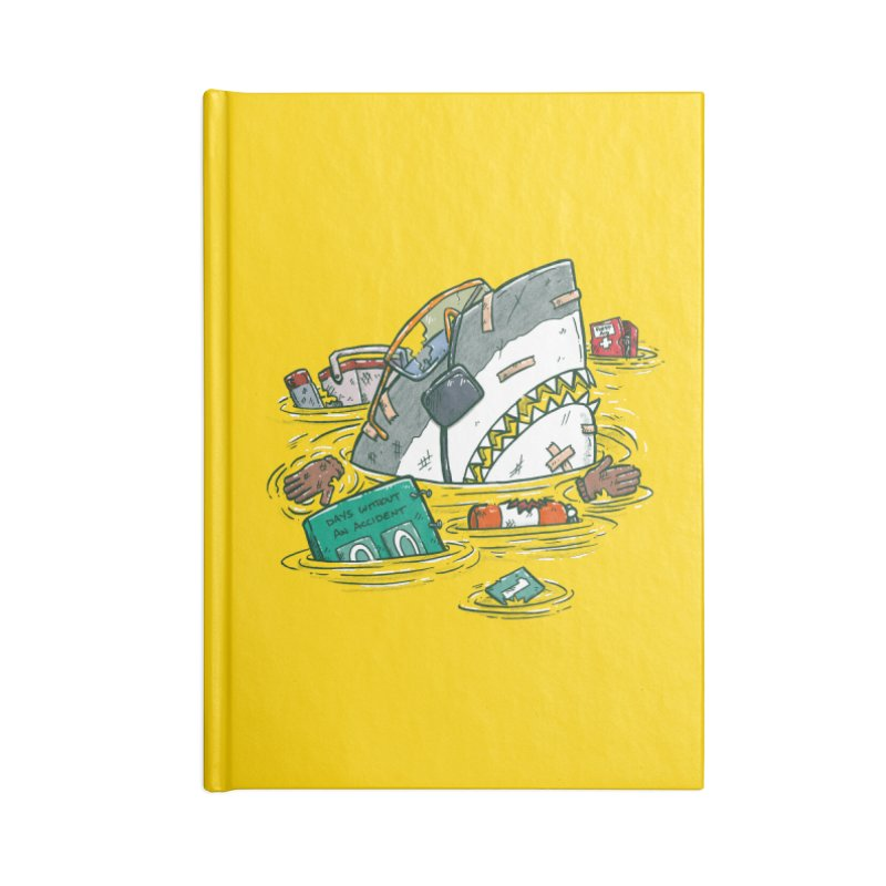 Safety Third Shark Accessories Lined Journal Notebook by nickv47