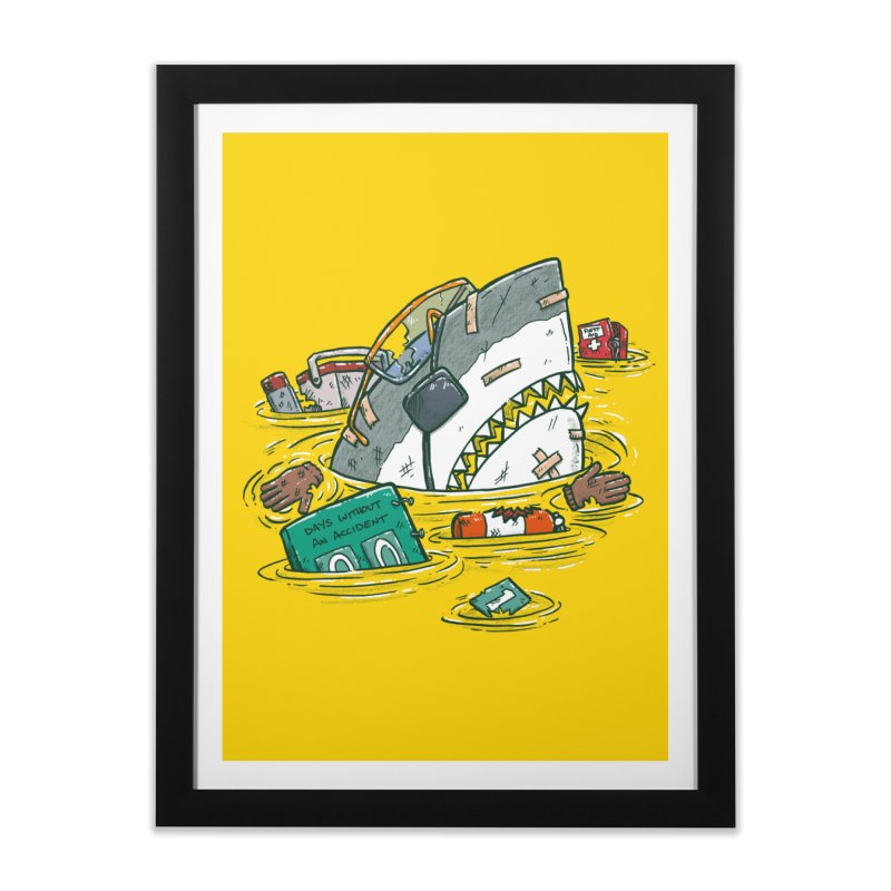 Safety Third Shark Home Framed Fine Art Print by nickv47