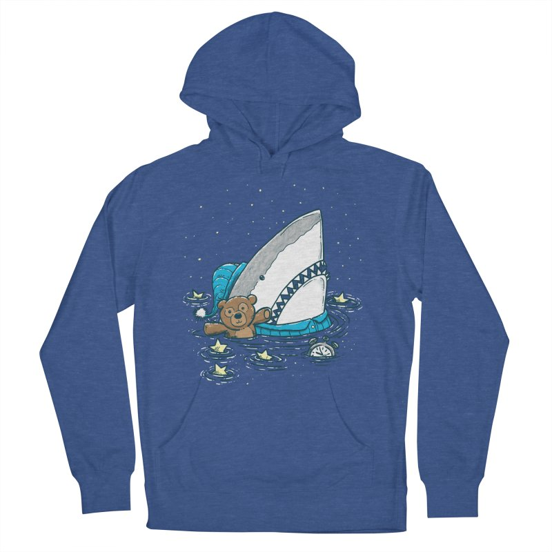 The Sleepy Shark Men's French Terry Pullover Hoody by nickv47
