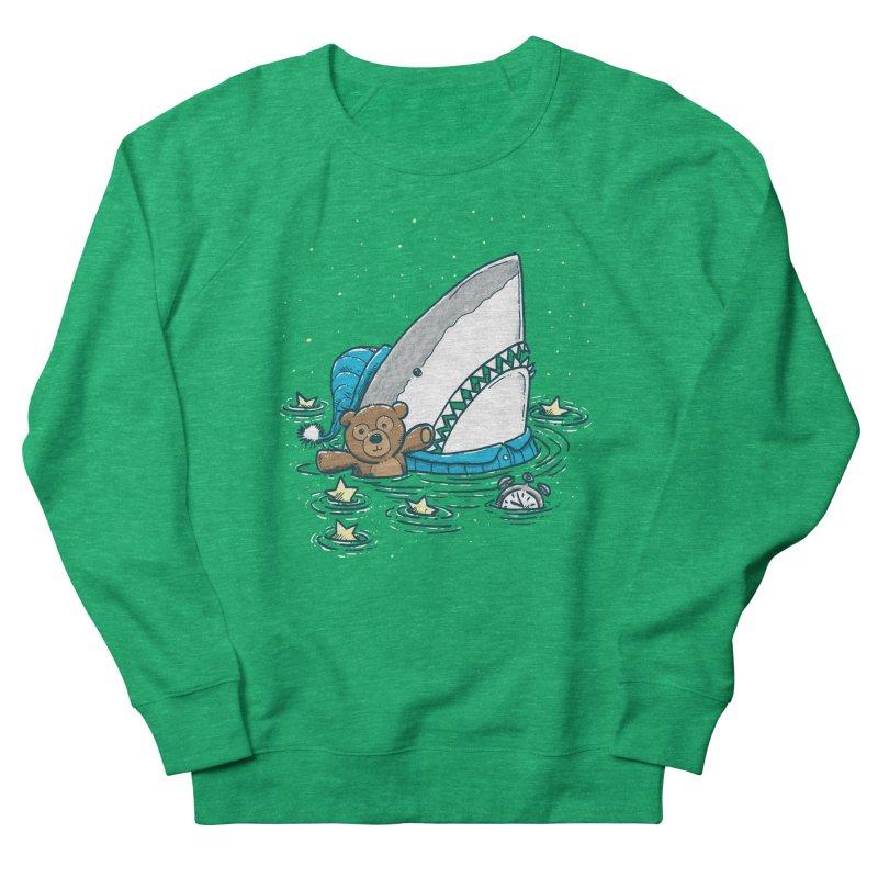 The Sleepy Shark Men's French Terry Sweatshirt by nickv47