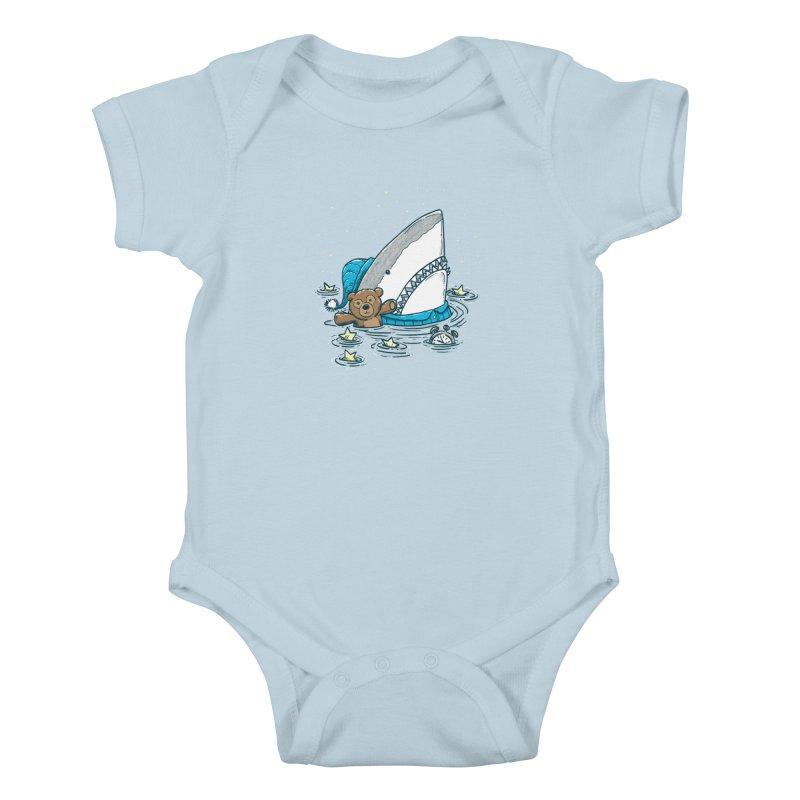 The Sleepy Shark Kids Baby Bodysuit by nickv47