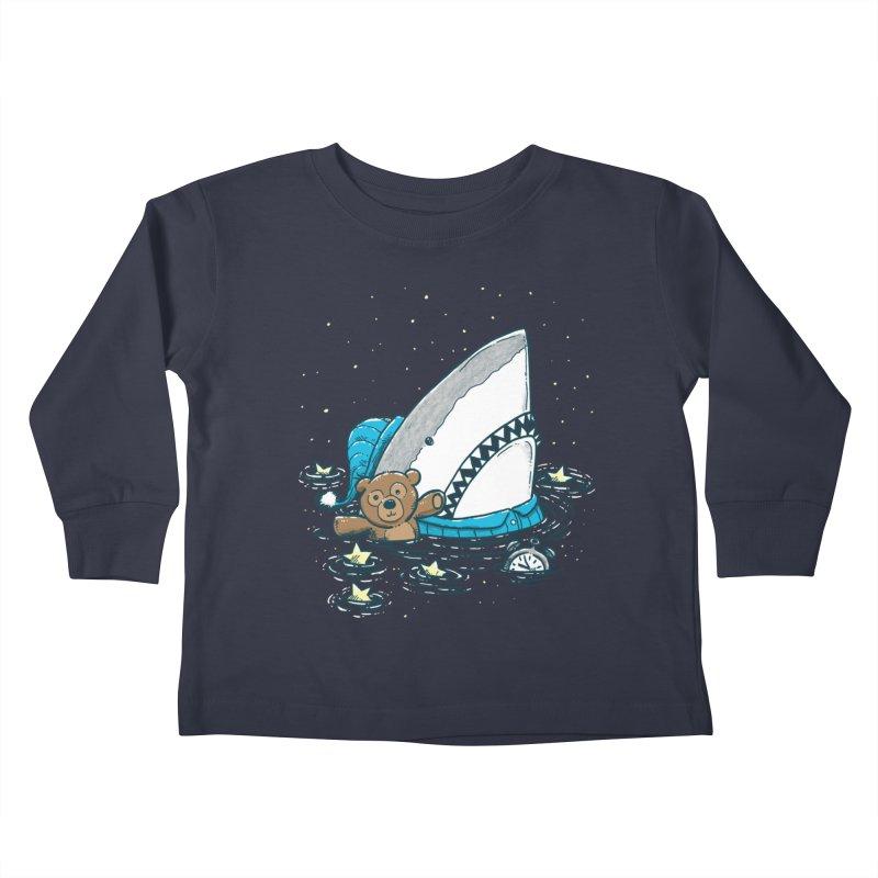 The Sleepy Shark Kids Toddler Longsleeve T-Shirt by nickv47