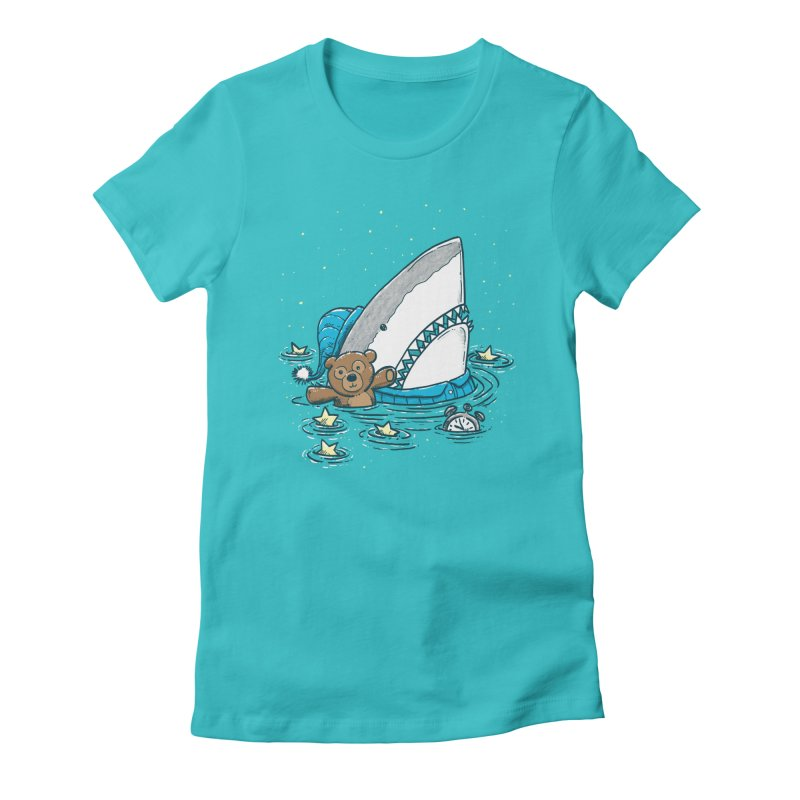 The Sleepy Shark Women's Fitted T-Shirt by nickv47