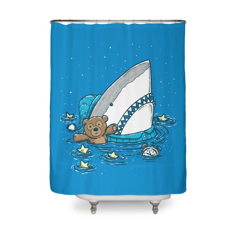 The Sleepy Shark Home Shower Curtain by nickv47