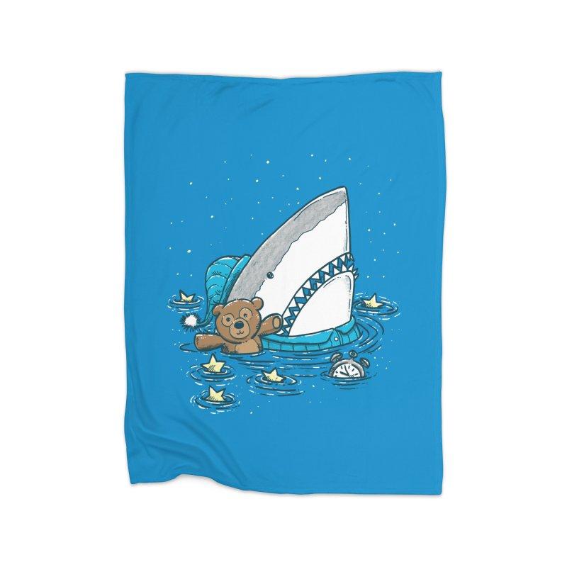 The Sleepy Shark Home Fleece Blanket Blanket by nickv47