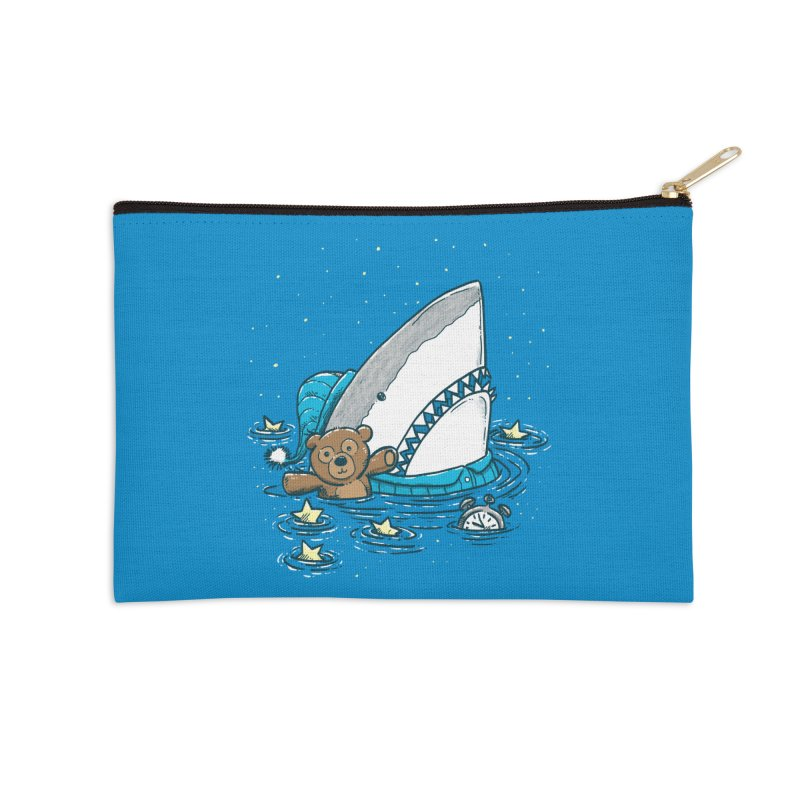 The Sleepy Shark Accessories Zip Pouch by nickv47