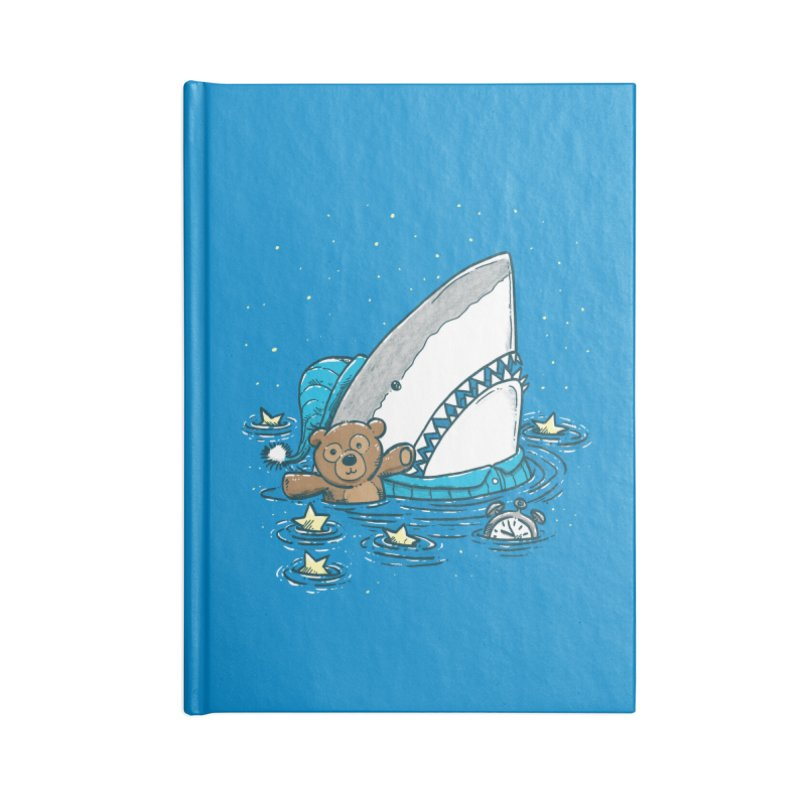 The Sleepy Shark Accessories Blank Journal Notebook by nickv47