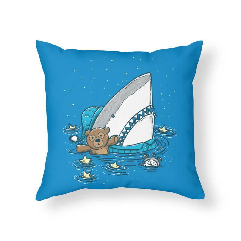 The Sleepy Shark Home Throw Pillow by nickv47
