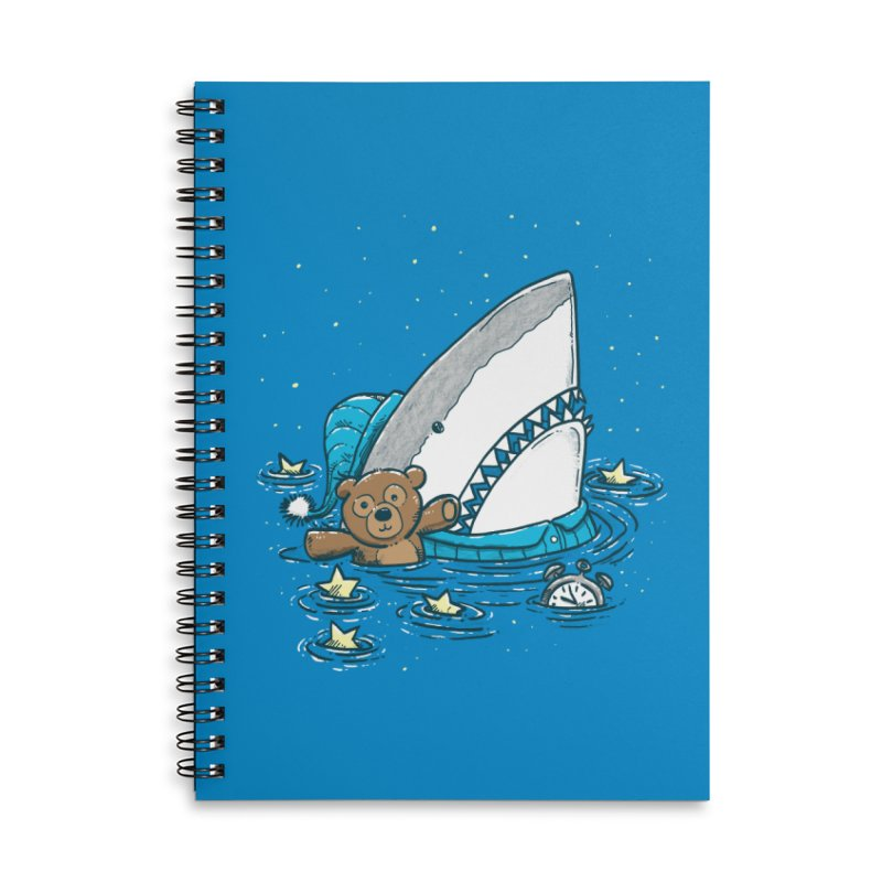 The Sleepy Shark Accessories Lined Spiral Notebook by nickv47