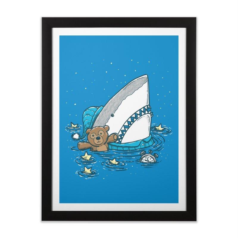 The Sleepy Shark Home Framed Fine Art Print by nickv47