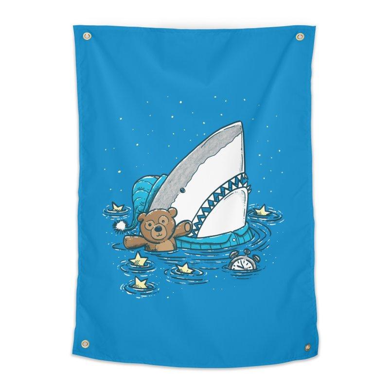 The Sleepy Shark Home Tapestry by nickv47