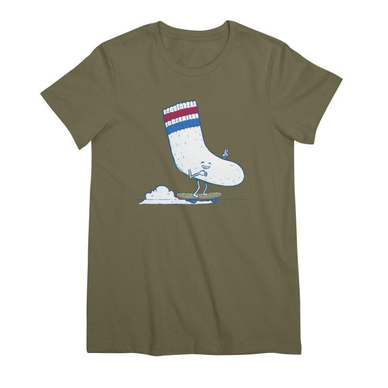 Lost Sock Skater Women's Premium T-Shirt by nickv47
