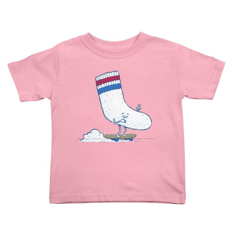 Lost Sock Skater Kids Toddler T-Shirt by nickv47