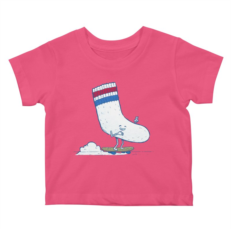 Lost Sock Skater Kids Baby T-Shirt by nickv47