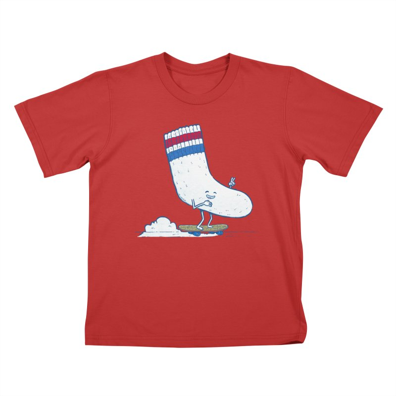 Lost Sock Skater Kids T-Shirt by nickv47