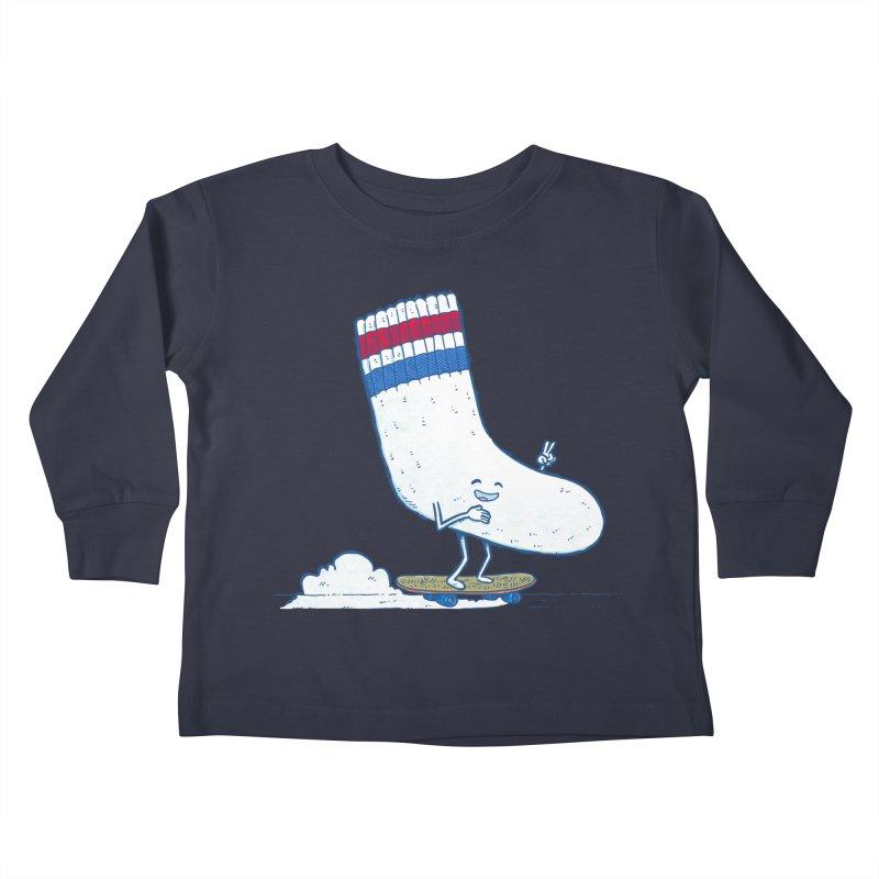 Lost Sock Skater Kids Toddler Longsleeve T-Shirt by nickv47