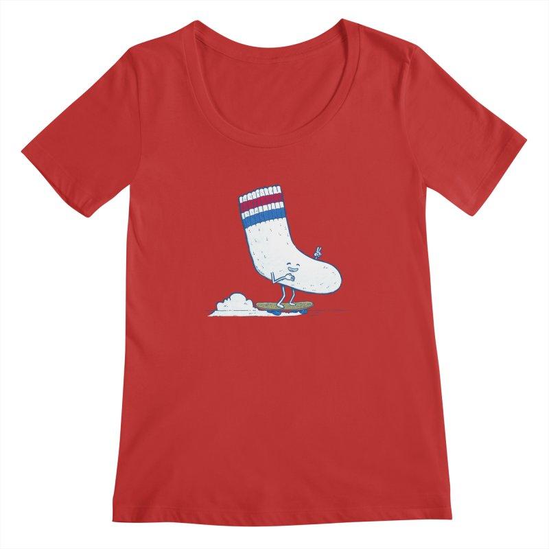 Lost Sock Skater Women's Regular Scoop Neck by nickv47