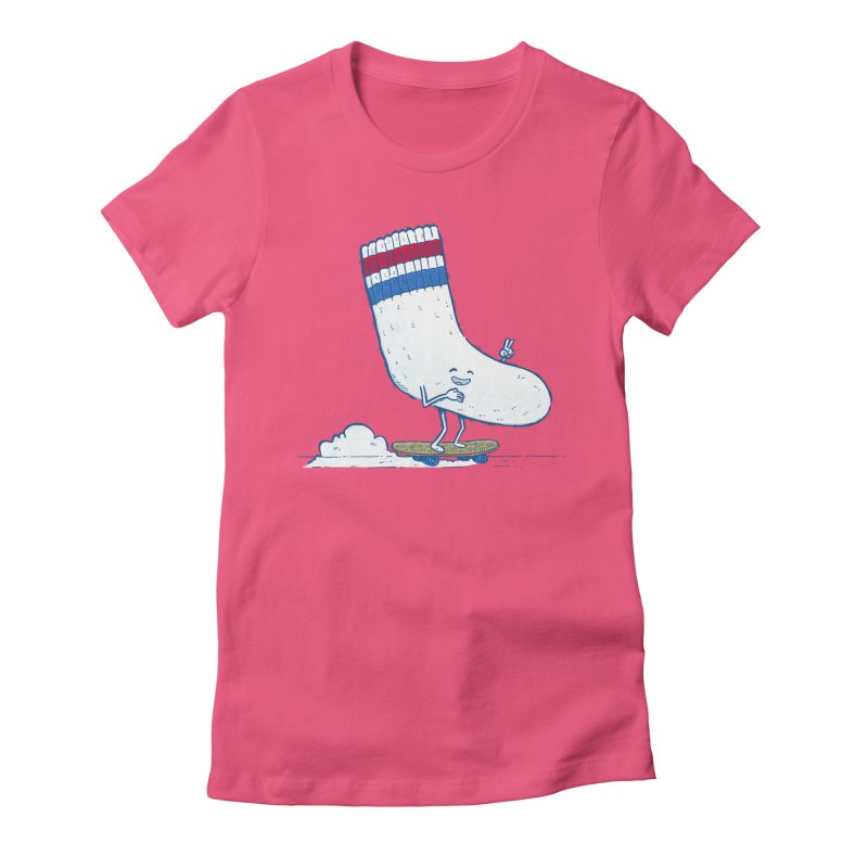 Lost Sock Skater Women's Fitted T-Shirt by nickv47