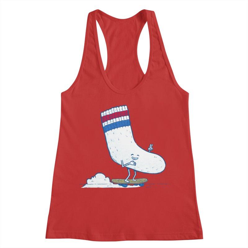 Lost Sock Skater Women's Racerback Tank by nickv47