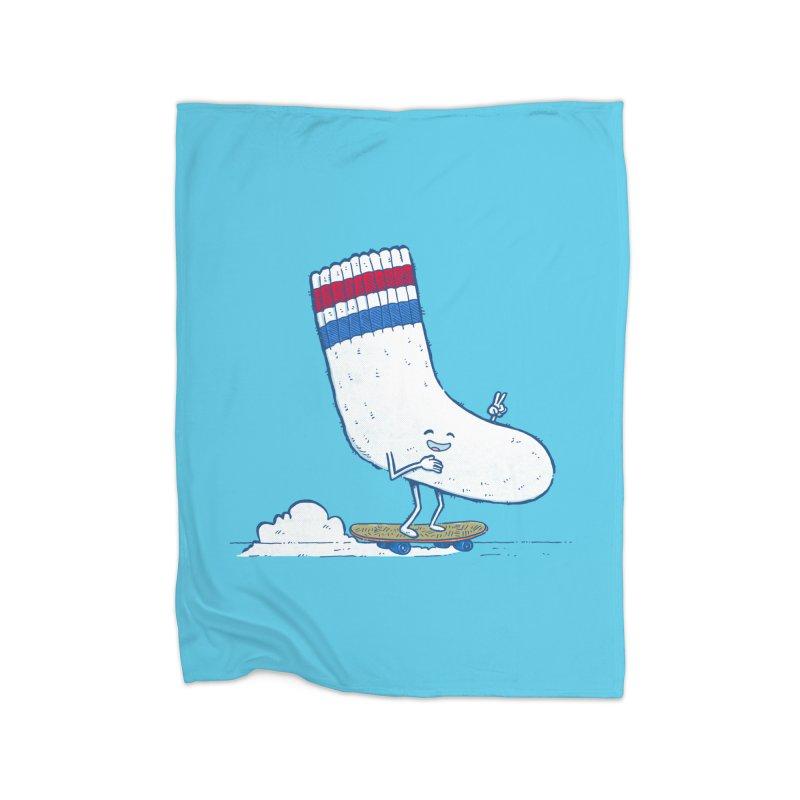 Lost Sock Skater Home Fleece Blanket Blanket by nickv47