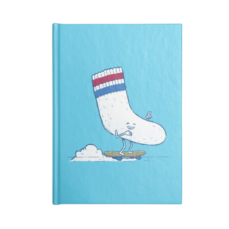Lost Sock Skater Accessories Blank Journal Notebook by nickv47