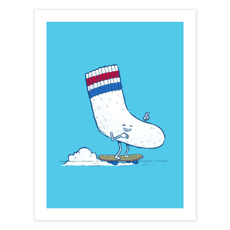Lost Sock Skater Home Fine Art Print by nickv47