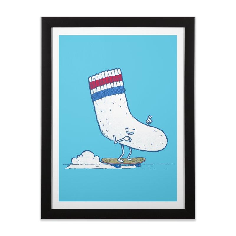 Lost Sock Skater Home Framed Fine Art Print by nickv47
