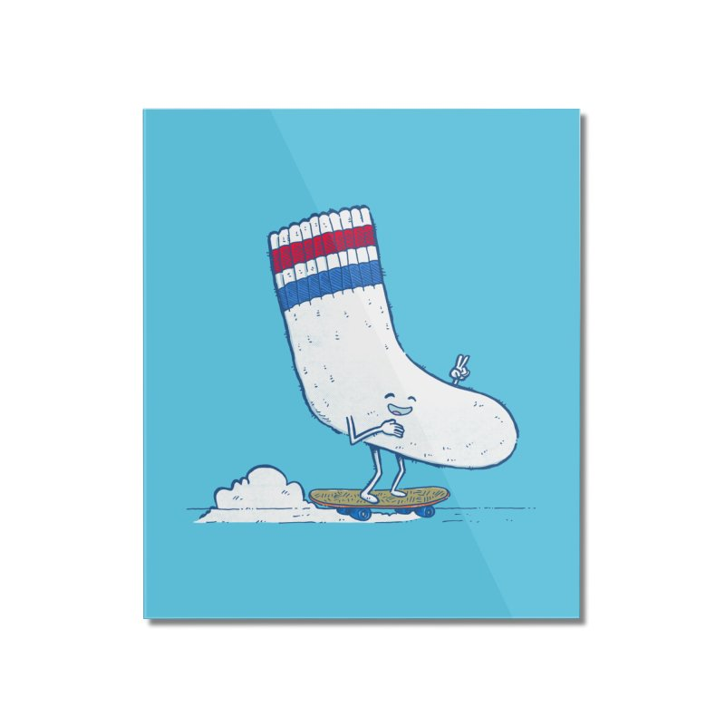 Lost Sock Skater Home Mounted Acrylic Print by nickv47