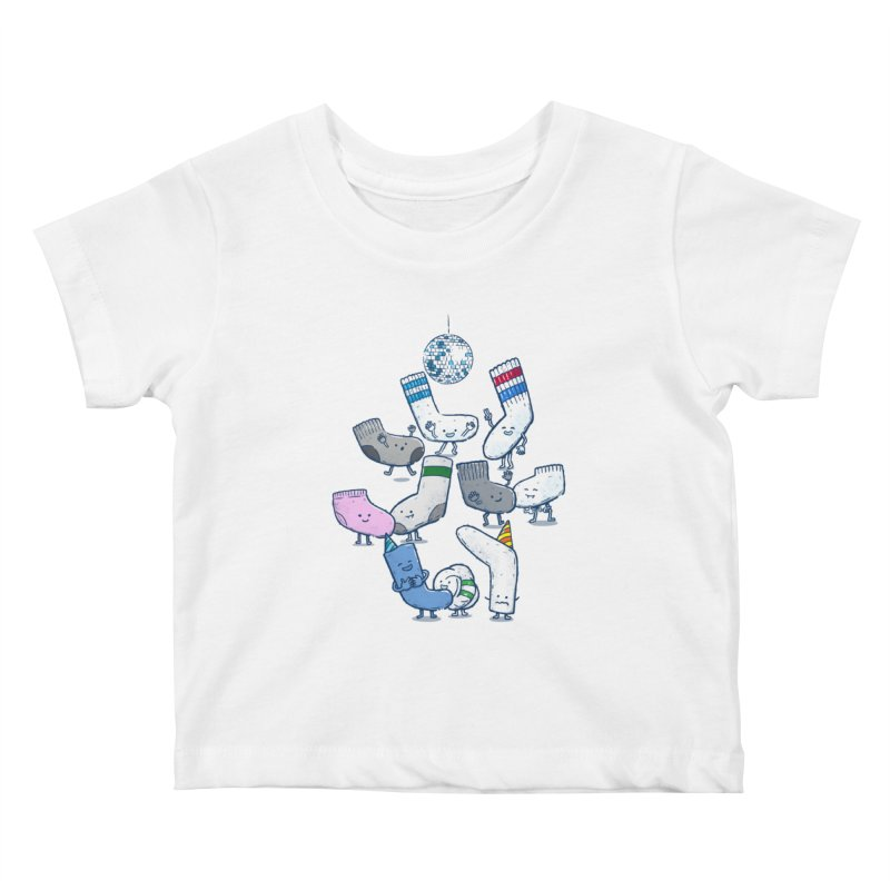 Lost Sock Party Kids Baby T-Shirt by nickv47