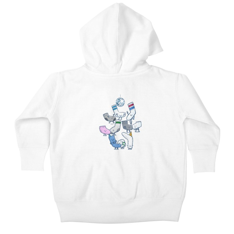 Lost Sock Party Kids Baby Zip-Up Hoody by nickv47